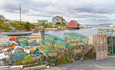 Lobster Traps Photograph - Peggy's Cove 5 by Betsy C Knapp