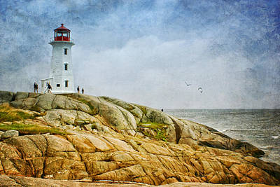 St Margaret Photograph - Peggy's Cove Lighthouse - 2 by Nikolyn McDonald