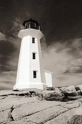Peggy's Cove Lighthouse Print by Arkady Kunysz