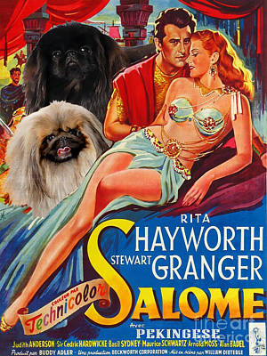 Pekingese Art - Salome Movie Poster Print by Sandra Sij