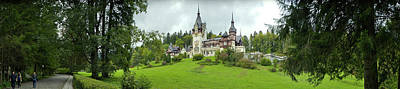 Romania Photograph - Peles Castle In The Carpathian by Panoramic Images