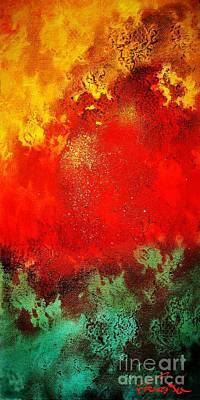 Pele Painting - Pele's Fire by Frances Ku
