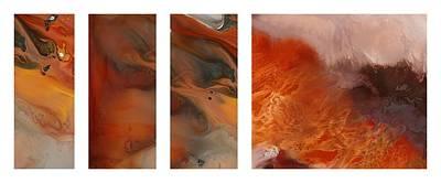 Etc. Painting - Pele's Fire by Sheila Elsea