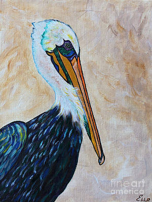 Abstract Seascape Drawing - Pelican Pointe by Ella Kaye Dickey