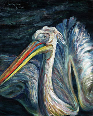 Painting - Pelican by Xueling Zou