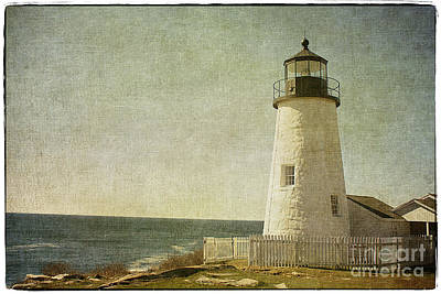 Vintage Style Photograph - Pemaquid Lighthouse 2 by Cindi Ressler