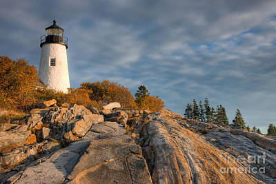 United States Coast Guard Photograph - Pemaquid Point Light Vi by Clarence Holmes
