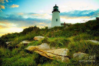Pemaquid Point Lighthouse Bristol Maine Print by Mel Ashar