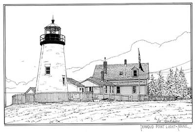 Pemaquid Point Lighthouse Print by Ira Shander
