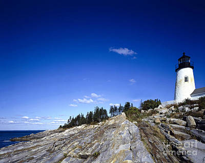 Pemaquid Point Lighthouse, Maine Print by Rafael Macia