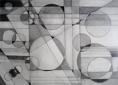 Pencil Abstract Print by Marge Cari