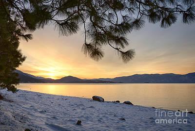 Pend Oreille Sunrise Print by Idaho Scenic Images Linda Lantzy