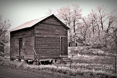 Neurotic Images Photograph - Pendleton Frosty Morning Sepia by Chalet Roome-Rigdon