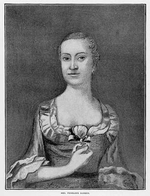 Patriotic Painting - Penelope Barker (1728-1796) by Granger