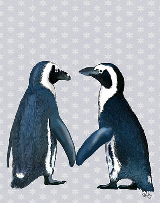 Penguins In Love Print by Kelly McLaughlan