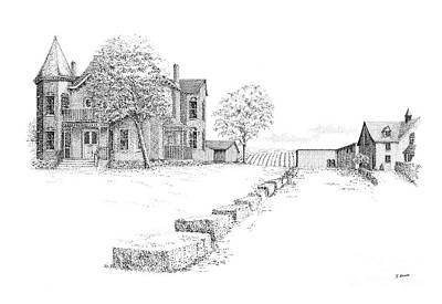 Peninsula Ridge Winery Print by Steve Knapp