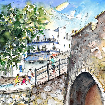 Old Street Drawing - Peniscola Old Town 03 by Miki De Goodaboom