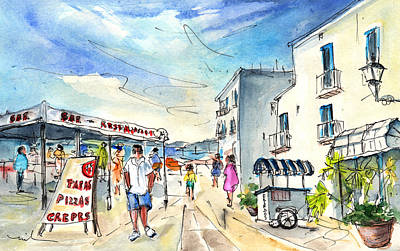 Old Street Drawing - Peniscola Old Town 04 by Miki De Goodaboom
