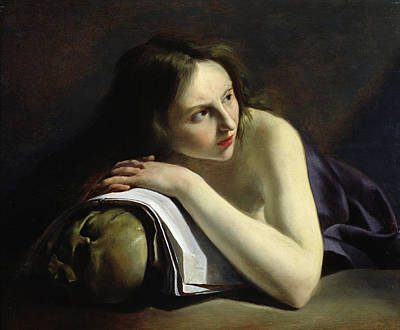 Penitent Magdalen Oil On Canvas Print by Paulus Moreelse