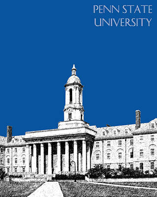Universities Digital Art - Penn State University - Royal Blue by DB Artist