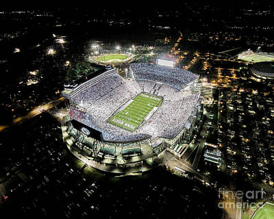 Beaver Photograph - Penn State Whiteout by Amesphotos
