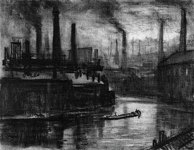 Drawing Of The Factory Drawing - Pennell London, 1908 by Granger