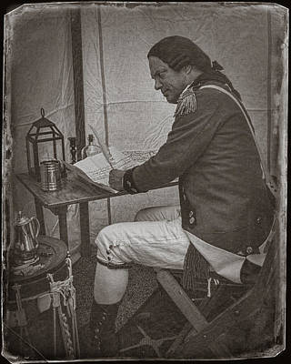 Art To Wear Photograph - Penning A Letter To King George The Third   by Priscilla Burgers