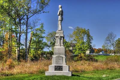 Pennsylvania At Gettysburg - 110th Pa Volunteer Infantry Autumn De Trobriand Avenue Print by Michael Mazaika
