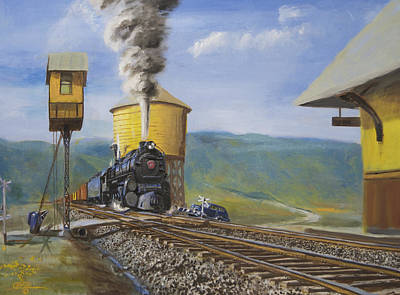 Trains Painting - Pennsylvania Crossing by Christopher Jenkins