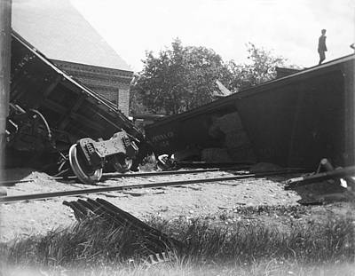 Pennsylvania Rr Wreck Original by Jan Faul