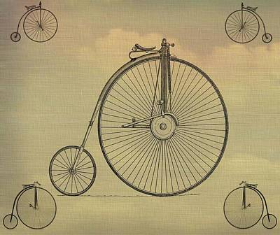 Bicycle Mixed Media - Penny Farthing Poster by Dan Sproul