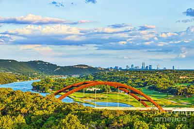 Austin Photograph - Pennybacker Bridge Austin Texas by Tod and Cynthia Grubbs