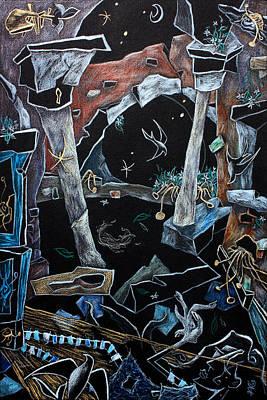 Venecia Drawing - Pensieri D'acqua - Disegno Fantasia E Illustrazione by Arte Venezia