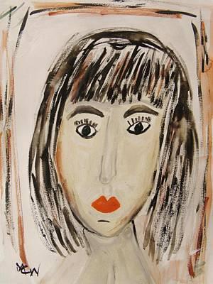 Pensive M.  Original by Mary Carol Williams