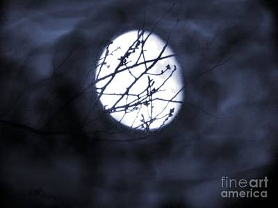 Halloween Painting - Pentacle Moon by Roxy Riou