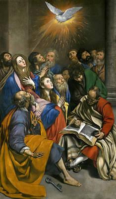 Pentecost Painting - Pentecost by Juan Bautista Maino