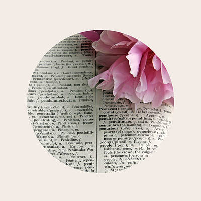 Books Photograph - Peony In French by Brooke Ryan