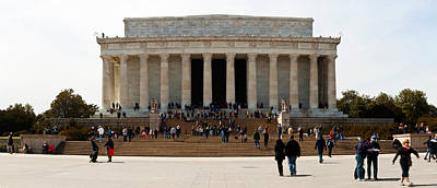 People At Lincoln Memorial, The Mall Print by Panoramic Images