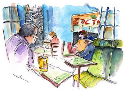 Nashville Drawing - People At Nashville Cool Springs Galleria 02 by Miki De Goodaboom