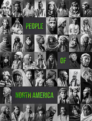 Black History Mixed Media - People Of North America by Aged Pixel