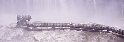 Rivers In The Fall Photograph - People On Cat Walks At Floodwaters by Panoramic Images