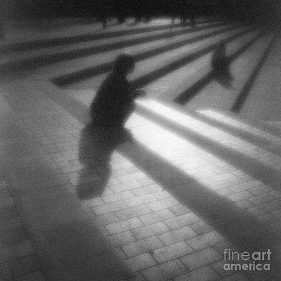 Pinhole Photograph - People Sitting On Steps by Colin and Linda McKie