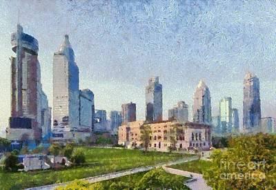 Asia Painting - People Square In Shanghai by George Atsametakis
