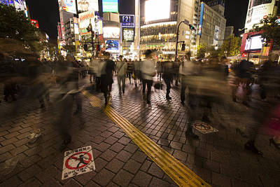 Shibuya Photograph - People Walking In Shibuya by Ruben Vicente