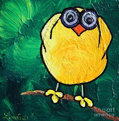 Limbbirds Painting - People Watcher by LimbBirds Whimsical Birds