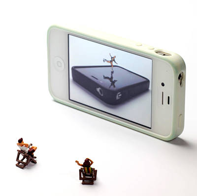 Miniature Photograph - People Watching Ice Skating Live Shows II by Paul Ge