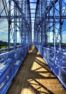 Railroad Bridge Photograph - People Bridge 2 by Mel Steinhauer