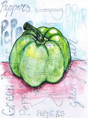 Pepper Print by Anne Seay