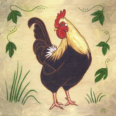 Pepper The Rooster Print by Linda Mears