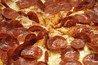 Andee Fine Art And Digital Design Photograph - Pepperoni Pizza 1 by Andee Design